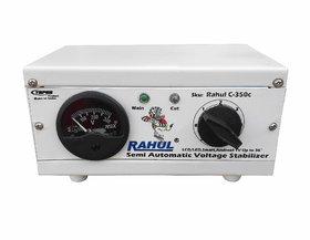 Rahul C-350c 300 VA 140-280 Volt Manual 8 Booster,Use a Maximum of 1.3 Amp Load This Copper Autocut Voltage Stabilizer
