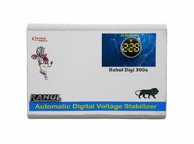 Rahul Digi 300a 300 VA 140-280 Volt 3 Booster,Use a Maximum of 1.3 Amp Load This Digital Automatic Voltage Stabilizer