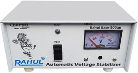 Rahul Base-300an 300VA 140-280 Volt 3 Booster,Use a Maximum of 1.3 Amp Load This Automatic Voltage Stabilizer
