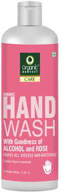 Organic Harvest Hand Wash with Goodness of Alcohol and Rose, Contains Organic Ingredients, 500 ml
