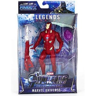 Ironman Avengers Action Figures , Avengers Toys Set 6 Inch Superheros Collection  (Red)