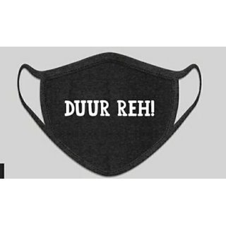 Designer Mask - Duur Reh (Black white)