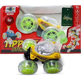 Rechargeable Stunt Car Big Size 360 Degree Rotating Remote Contro(Multicolor)