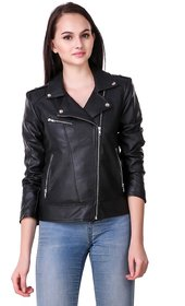 Leather Retail Faux Leather Jacket for Roadies For Women's and Girls