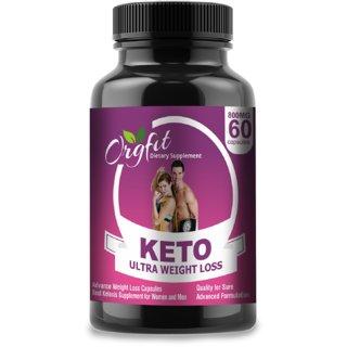 Orgfit Keto (Garcinia Cambogia, Green Tea, Coffee) Extract Fat Burner Weight Loss 800 Mg 60 Cap