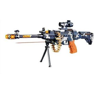 Musical Army Style AK-47 Gun Toy Gun for Kids with Music, Lights and Laser Light (Multicolor) Guns  Darts  (Multicolor)