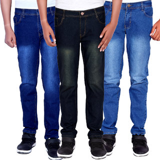 Fashion Cloting Multicolor Slim Fit Jeans For Men Combo Of 3