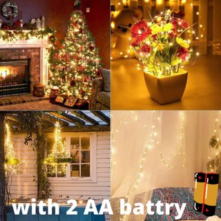 Waterproof Decorative Vine String Lights Hanging Fairy Lights Silver Wire Lights for Home,Office,festival