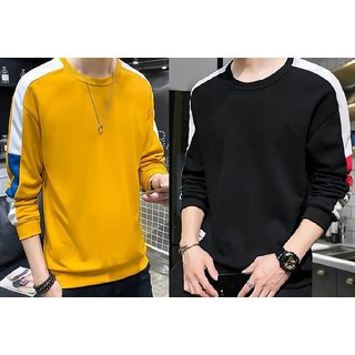 Pack of 2 Stylesmyth Men Multicolor Round Neck T-Shirt