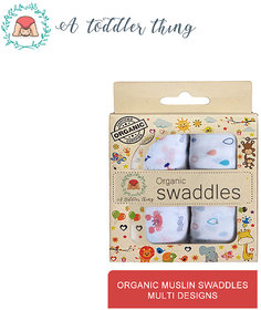A Toddler Thing Organic cotton Muslin Swaddle multicolour