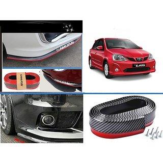 After cars Samurai Carbon Fiber Body Kit Bumper Rubber Edge Protector for Etios Liva Car