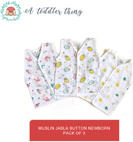 A Toddler Thing GOTS organic certified Button up Muslin Jabla 3-6month