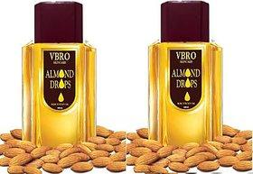 VBRO SKIN CARE almond drops non sticky oil 500ml (2pack) Hair Oil