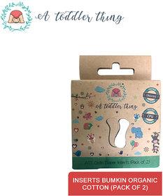 A Toddler Thing Microfiber Organic GOTS cotton Newborn diaper inserts Pack of 2