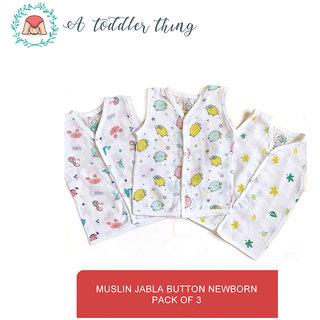 A Toddler Thing Newborn button up muslin Jabla (Organic Cotton )