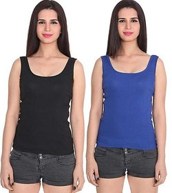 Women's  Girl's  Solid  Camisole Combo Of 2