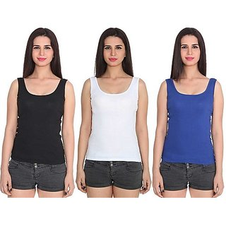 Women's  Girl's  Solid  Camisole Combo Of 3