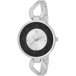 Miss Perfect Silver Strap Color Analog Watch