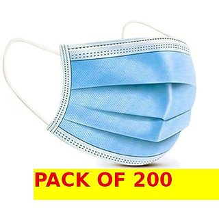 Medical Surgical Dust Face Mask Ear Loop Medical Surgical Dust Face Mask - Surgical Mask Pack of 200 - Flumask