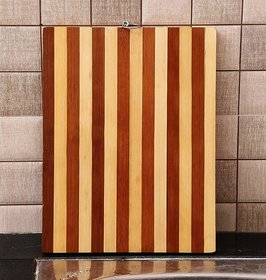 vessel crew (ring chopping board) Any Kitchen Wooden Chopping Board (32.5 X 22 X 1.7 cm, Brown)