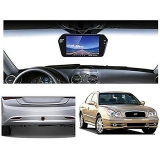 After Cars 7 Inch Full HD Bluetooth Back Mirror Monitor Screen with Sensor for Sonata Old Car
