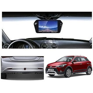 After Cars 7 Inch Full HD Bluetooth Back Mirror Monitor Screen with Sensor for i20 Active Car