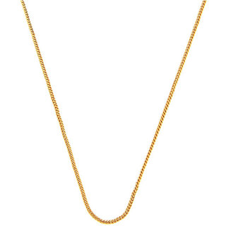 Simple Gold Plated Box Chain Thin Stylish Basic Style Evergreen Daily Wear Chain For Boys Men Gents