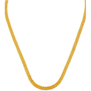 Gold Chain Flat Mesh Design Gold Plated Gents Men Boys Chain Daily Wear Design