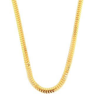 Heavy Look Gents Chain Gold Plated Light Weight Long Boys Mens Daily Wear Chain