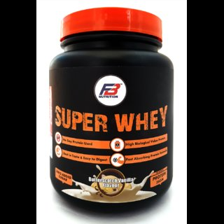 FB Nutrition Super Whey Butterscotch Vanilla 1 KG High Biological Value Protein, Best in Taste  Easy to Digest, Fast Absorbing Protein Formula, Zero Added Sugar