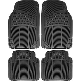 Auto Fetch Rubber Car Floor/Foot Mats (Set of 4) Black for Maruti Suzuki Ritz