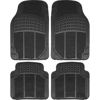 Auto Fetch Rubber Car Floor/Foot Mats (Set of 4) Black for Honda Amaze 2018