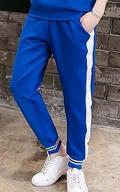 Striped Men Blue Trackpant by VRMA