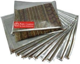 Ruhis Creations (Tm) Premium Silver Saree Cover / Bag (Pack Of 10) Sc00961