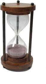 Antique Wooden and Brass Sand Timer Hour Glass Sandglass Clock Gola International
