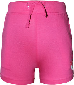 Kothari Printed Casual Fit Solid Colour Drawstring shortlength Hotpat For Girls