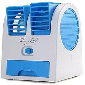 Mini Small Fan Cooling Portable Desktop Dual Bladeless Air Cooler