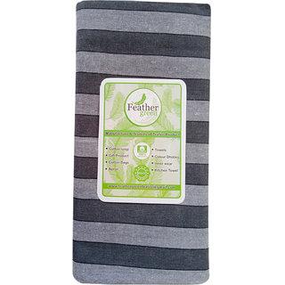 Cotton Striped   Lungi Grey
