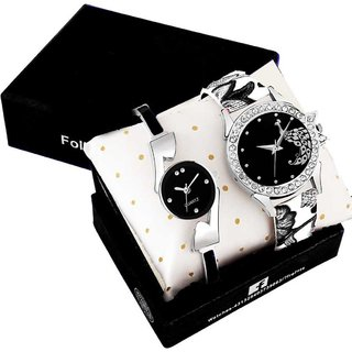 Miss Perfect Black Strap Color Analog Watch