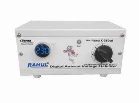 Rahul C-350cd 300 VA 140-280 Volt Manual 8 Booster,Use Maximum 1.3 Amp Load This Copper Autocut Voltage Stabilizer