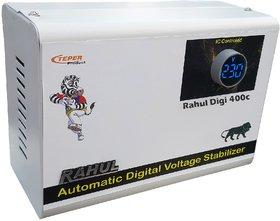 Rahul Digi 400c 415VA 140-280 Volt 3 Booster,Use a Maximum of 1.4 Amp Load This Digital Automatic Voltage Stabilizer