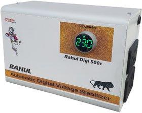 Rahul Digi 500c 500VA 140-280 Volt,3 Booster Use a Maximum 1.5 Amp Load This Automatic Digital Voltage Stabilizer