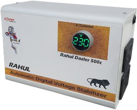 Rahul Dazler 500c 500VA 100-280 Volt 5 Booster,Use a Maximum 1.5 Amp Load This Automatic Digital Voltage Stabilizer