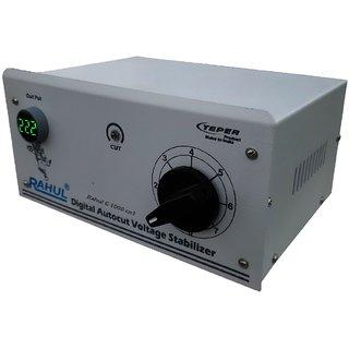 Rahul C-1000 cn1 Kva/4 Amp 90-260 Volt,Manual 8 Booster,Use a Maximum 4 Amp Load This Autocut Voltage Stabilizer