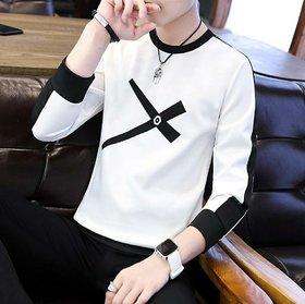 Axxitude White Round Neck T-Shirt For Men