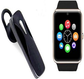 Bushwick Presents Y15 Screen Bluetooth Smartwatch with Sim Card Support With Kaju Bluetooth Headset With Mic.