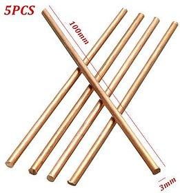 Zoltamulata 5Pcs Diameter 3Mm Pure Copper Cu Metal Solid Rod Length 100Mm