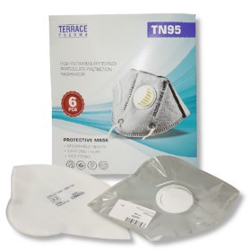 TN95 High Filtration Efficiency Particulate Protection Respirator Protective Mask 6 Pec