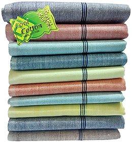 Men's Khadi Cotton Handkerchiefs (Pack of 5, Multi-Colored) face towels