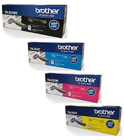 Brother TN 263 Toner Cartridge Pack Of 4 For Use HL-L3210CW,L3230CDN,L3270CDW,DCP-L3551CDW,MFC-L3735CDN,L3750CDW,L370CDW